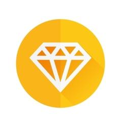 Diamond flat icon vector
