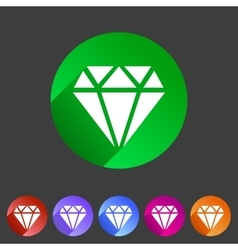 Diamond icon flat web sign symbol logo label vector