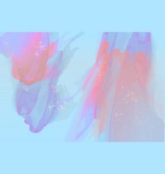 dynamic violet blue fluid shapes pink pastel wavy vector image
