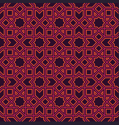 Ethnic line islamic pattern vector