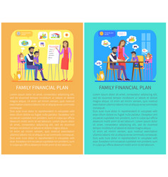family financial plan posters vector image