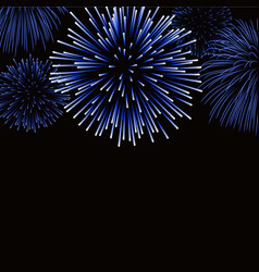 Firework sparkle background card vector