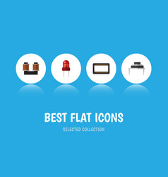 flat icon electronics set of recipient vector image
