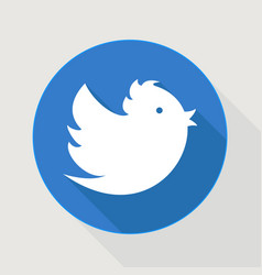 flying blue twitter bid vector image