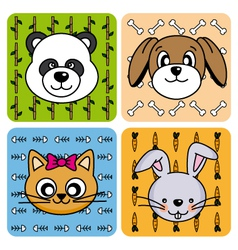 Funny Animal Card vector image vector image