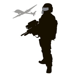 Future soldier vector image