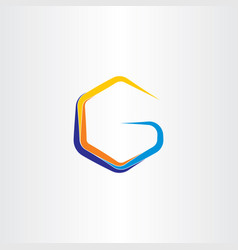 g letter icon sign design symbol vector image