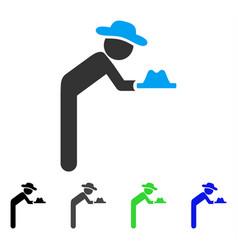 Gentleman servant flat icon vector