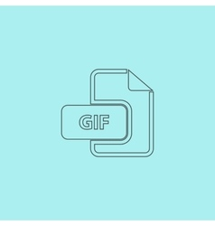 GIF image file extension icon vector image