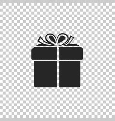 gift box icon isolated on transparent background vector image
