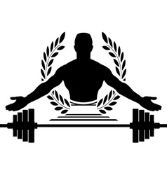 Glory of bodybuilding vector