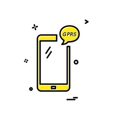 Gprs phone icon design vector