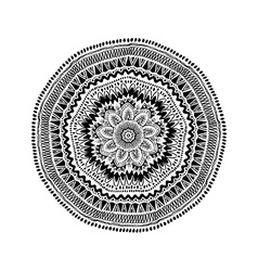 Graphic Isolated Circle Mandala Design vector image