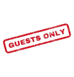 Guests Only Text Rubber Stamp vector image