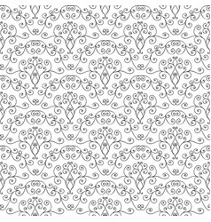Hand drawing black-and-white curly pattern vector