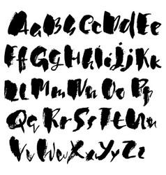 handdrawn dry brush font modern brush lettering vector image
