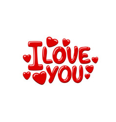 I love you on the white background vector