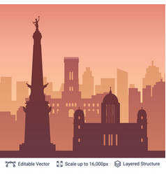Indianapolis famous city scape vector