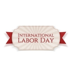 International Labor Day Paper Banner vector image