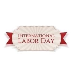 International labor day paper banner vector