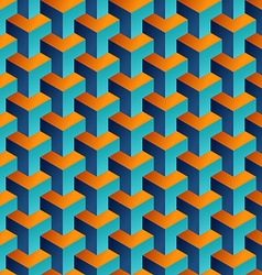 Isometric 3d shapes seamless pattern background vector