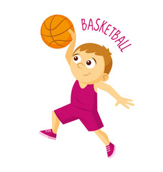kinds of sports athlete basketball vector image