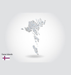 Map faroe islands with trendy triangles design vector