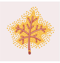 maple leaf outline stroke icon vector image
