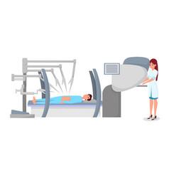 Modern robotic surgery flat vector