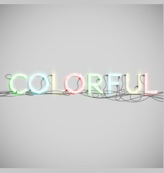 neon electric word type vector image