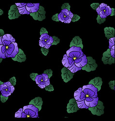 pansy seamless pattern vector image
