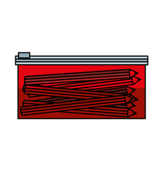 Pencil case isolated icon vector