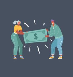 people fighting over money vector image