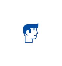 profile man line icon concept profile man flat vector image