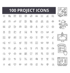 project line icons signs set outline vector image