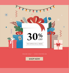 promo christmas new year banner sale poster and vector image