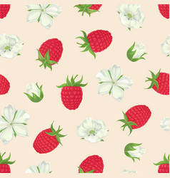 Raspberry seamless pattern-01 vector