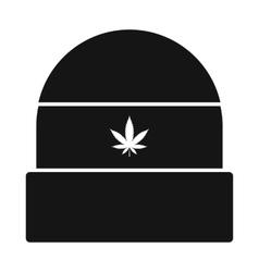 Rasta cap icon black simple style vector
