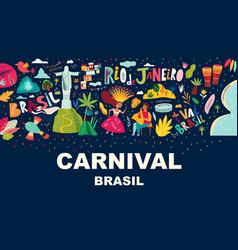 Rio de janeiro brazil carnival party vector