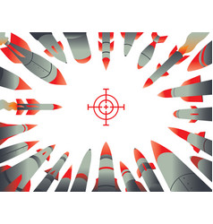 rocket attack frame vector image
