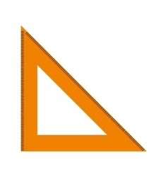 rule triangle isolated icon design vector image