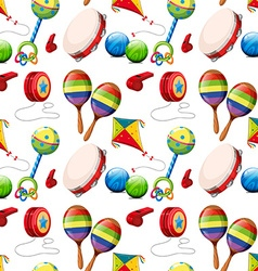 Seamless background with many toys vector image