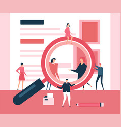 search concept - flat design style vector image