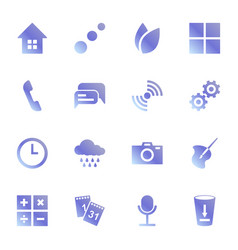 set of icons for standard applications original vector image