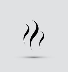 Smoke steam icon vector