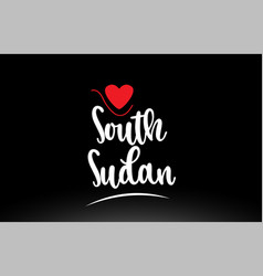 south sudan country text typography logo icon vector image