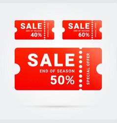 special offer sale label promo vector image