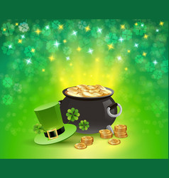 st patricks holiday sparkling background vector image