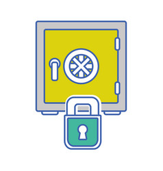 strong box object and padlock security vector image