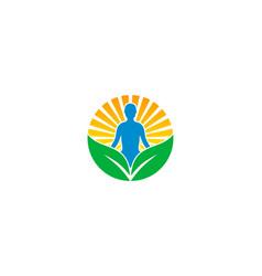 sun wellness logo icon design vector image